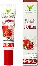 Düfte, Parfümerie und Kosmetik Straffende Anti-Aging Augenkonturcreme mit Granatapfel - Cosnature Eye Cream Pomegranate