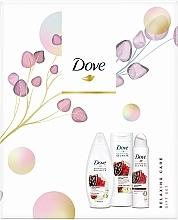 Düfte, Parfümerie und Kosmetik Körperpflegeset - Dove Relaxing Care Gift Set II (Duschgel 250ml + Körperlotion 250ml + Deospray 150ml)