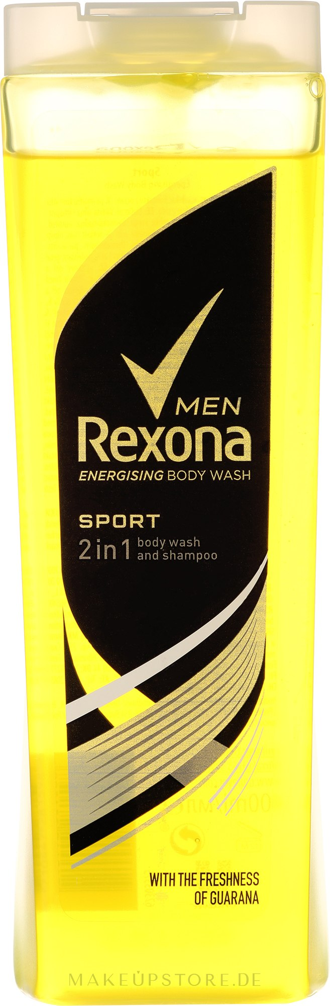 2in1 Shampoo & Duschgel - Rexona Men Sport Shower Gel Body & Hair — Bild 400 ml