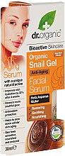 Düfte, Parfümerie und Kosmetik Pflegendes und beruhigendes Gesichtsserum mit Schneckenextrakt - Dr. Organic Bioactive Skincare Snail Gel Facial Serum