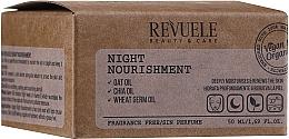 Düfte, Parfümerie und Kosmetik Nährende und feuchtigkeitsspendende Nachtcreme mit Hafer-, Chia- und Weizenkeimöl - Revuele Vegan & Organic Night Nourishment