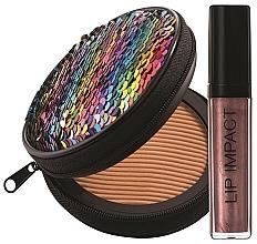 Düfte, Parfümerie und Kosmetik Make-up Set - NoUBA Sunlike Natural Tan №2 (Gesichtspuder 15g + Lipgloss 6ml)
