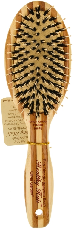 Bambusbürste für das Haar - Olivia Garden Healthy Hair Oval Combo Eco-Friendly Bamboo Brush — Bild N1