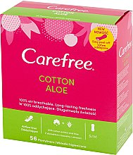 Düfte, Parfümerie und Kosmetik Slipeinlagen mit Baumwollextrakt und Aloe Vera 56 St. - Carefree Cotton Aloe