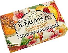 Düfte, Parfümerie und Kosmetik Naturseife Peach & Melon - Nesti Dante Sweetening & Toning Soap Il Frutteto Collection