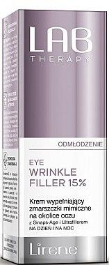 Falten-Filler für die Augenpartie - Lirene Lab Therapy Anti Ageing Eye Cream Eye Wrinkle Filler 15% — Bild N1