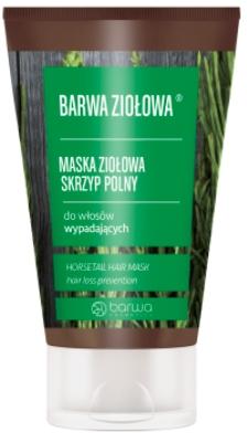 Maske gegen Haarausfall mit Schachtelhalm-Extrakt - Barwa Color Herbal Mask — Bild N1