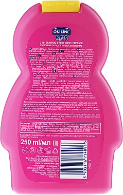 "Shampoo & Duschgel für Kinder ""Limonade"" - On Line Kids Lemonade Shampoo & Body Wash — Bild N2"
