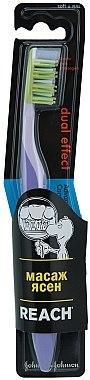 Zahnbürste weich Dual Effect violett - Reach — Bild N1