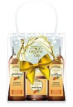Düfte, Parfümerie und Kosmetik Haarpflegeset - GlySkinCare Organic Seaberry Oil (Haarmaske 300ml + Shampoo 250ml + Conditioner 250ml)