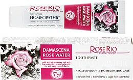 Düfte, Parfümerie und Kosmetik Homöopathische Zahnpasta mit Bio Rosenwasser - Rose Rio Toothpast