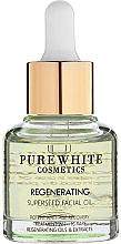 Düfte, Parfümerie und Kosmetik Glättende Gesichtspflege aus 16 erlesenen Pflanzenölen und Extrakten - Pure White Cosmetics Regenerating Superseed Facial Oil