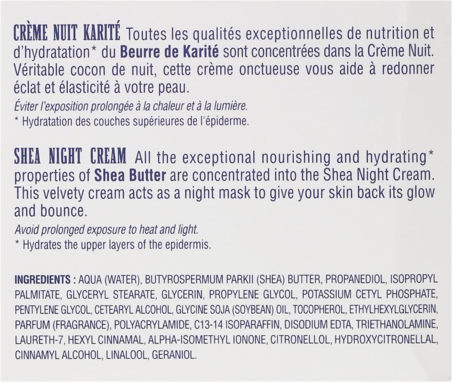 Pflegende und feuchtigkeitsspendende Nachtcreme mit Sheabutter - Institut Karite Shea Night Cream — Bild N3