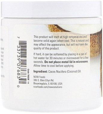 Revitalisierende Kokosbutter für Haut und Haar - Now Foods Solution Coconut Oil — Bild N2