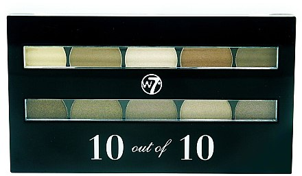 Lidschatten - W7 Perfect 10 Eyeshadow Palette Browns — Bild N1