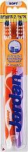 Düfte, Parfümerie und Kosmetik Zahnbürste weich Advanced orange, violett 2 St. - Jordan Advanced Soft Toothbrush