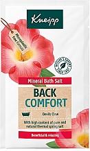 Düfte, Parfümerie und Kosmetik Entspannendes Badesalz mit Teufelsklauenextrakt und Cajeputöl - Kneipp Mineral Bath Salt Back Comfort Devils Claw