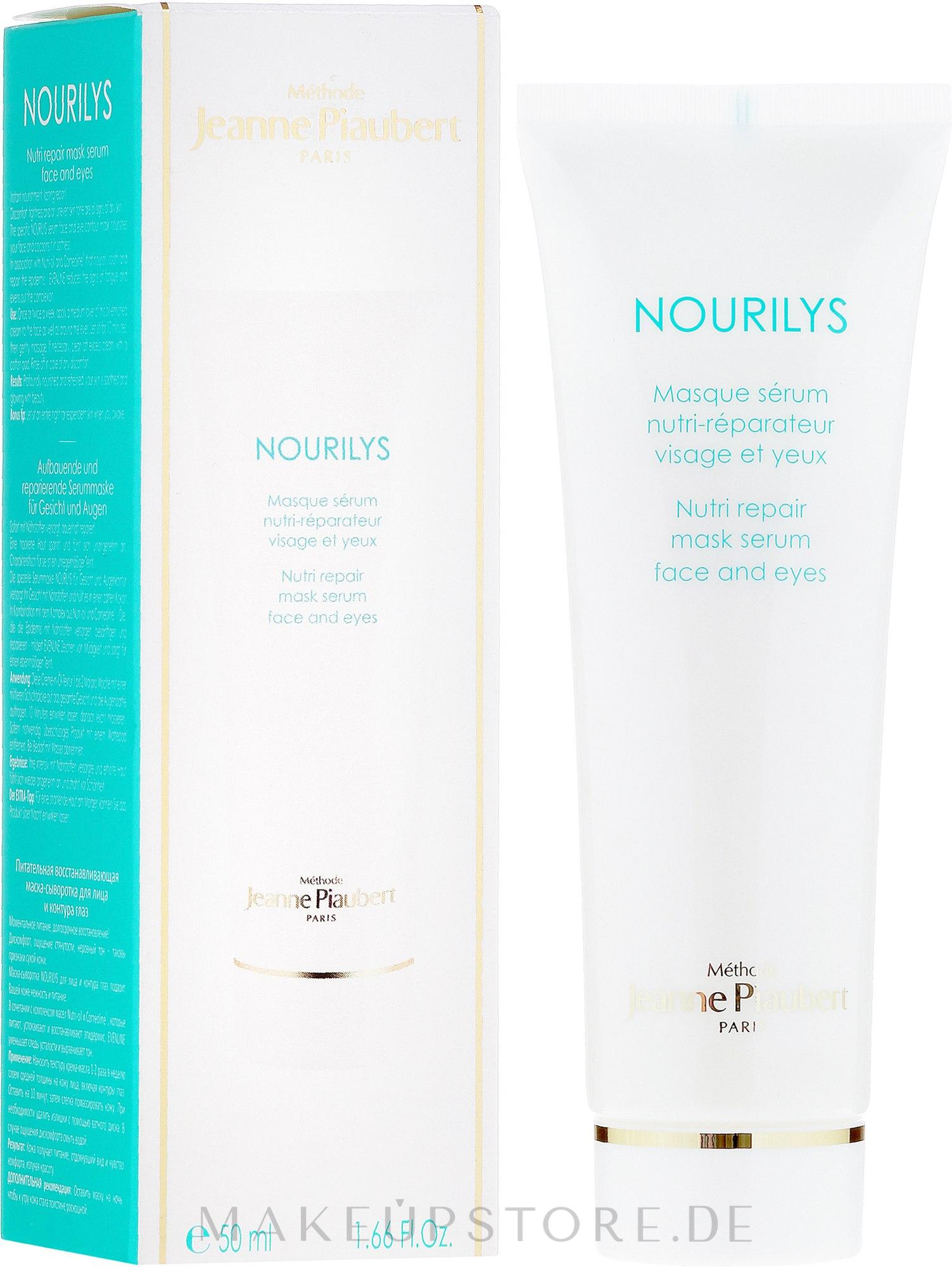 2in1Pflegemaske-Serum für Gesicht und die empfindliche Augenpartie - Methode Jeanne Piaubert Nourilys Nutri Repair Mask Serum Face & Eyes — Bild 50 ml