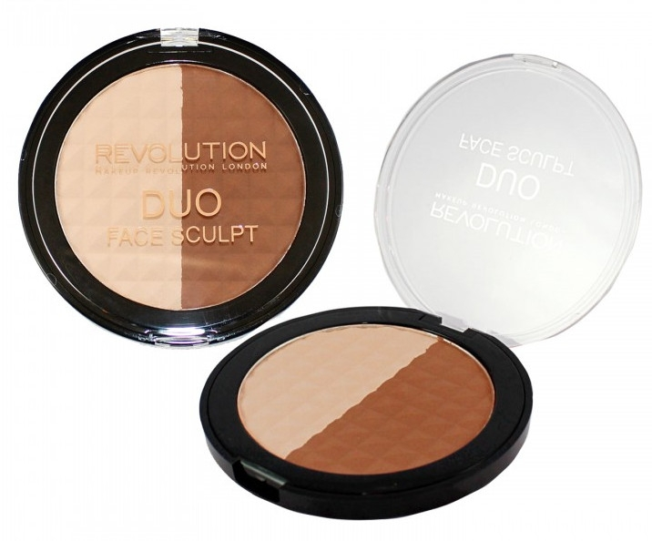 Konturpuder Duo - Makeup Revolution Duo Face Sculpt — Bild N1