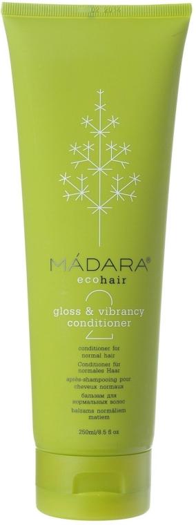 Pflegespülung mit Aloe und Diptam-Dost für normales Haar - Madara Cosmetics Gloss & Vibrance Conditioner — Bild N1