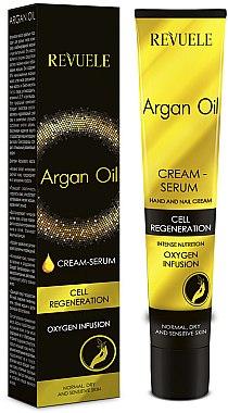 Creme-Serum für Hände und Nägel mit Arganöl - Revuele Argan Oil Cream Serum — Bild N1