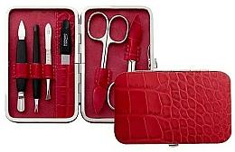 Düfte, Parfümerie und Kosmetik Maniküre-Set 6-tlg. rot mit Krokodilmuster - DuKaS Premium Line PL 126CVK