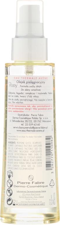 Trockenes pflegendes Öl-Spray für Körper, Gesicht und Haar - Avene Soin Corporels Huile de Soin Spray Gevoelige Huid — Bild N2