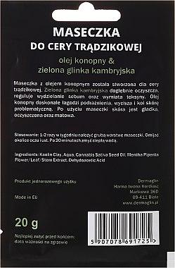 Gesichtsmaske für Männer mit Hanföl und grünem Ton - Dermaglin For Men Natural Product — Bild N2