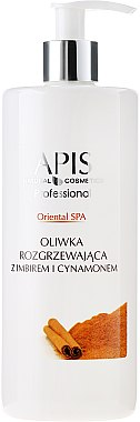 Wärmendes Olivenöl mit Ingwer und Zimt - APIS Professional Oriental Spa Warming Olive Oil With Ginger And Cinamon — Bild N1