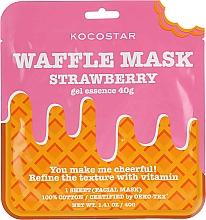 Düfte, Parfümerie und Kosmetik Ausgleichende und feuchtigkeitsspendende Waffel-Tuchmaske für das Gesicht mit Erdbeerextrakt - Kocostar Strawberry Waffle Mask