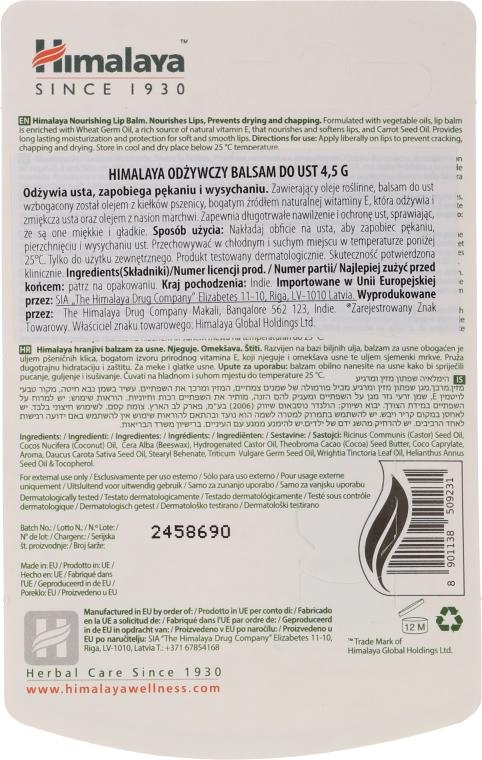 Pflegender Lippenbalsam mit Weizenkeimöl und Karottensamenöl - Himalaya Herbals Lip Balm — Bild N2