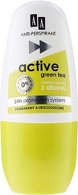 "Deo Roll-on Antitranspirant ""Active"" - AA Cosmetics Deo Anti-Perspirant Green Tea 24H — Bild N1"