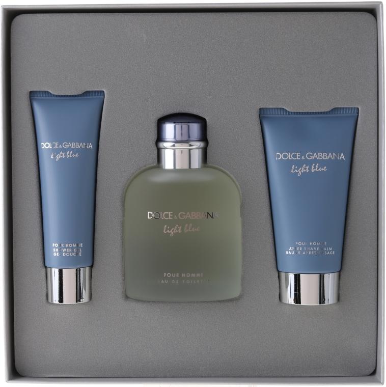 Dolce & Gabbana Light Blue Pour Homme - Duftset (Eau de Toilette 125ml + Duschgel 50ml +After Shave Balsam 75ml) — Bild N1
