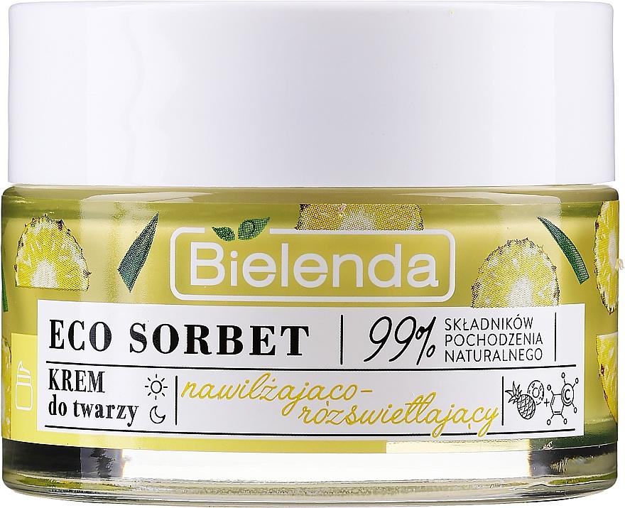 Feuchtigkeitsspendende und aufhellende Gesichtscreme mit Ananassaft, AHA-Säuren und Vitamin C - Bielenda Eco Sorbet Moisturizing & Brightening Face Cream — Bild N2