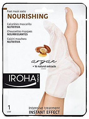 Pflegende Fußmaske in Socken mit Arganöl - Iroha Nature Nourishing Argan Socks Foot Mask — Bild N1