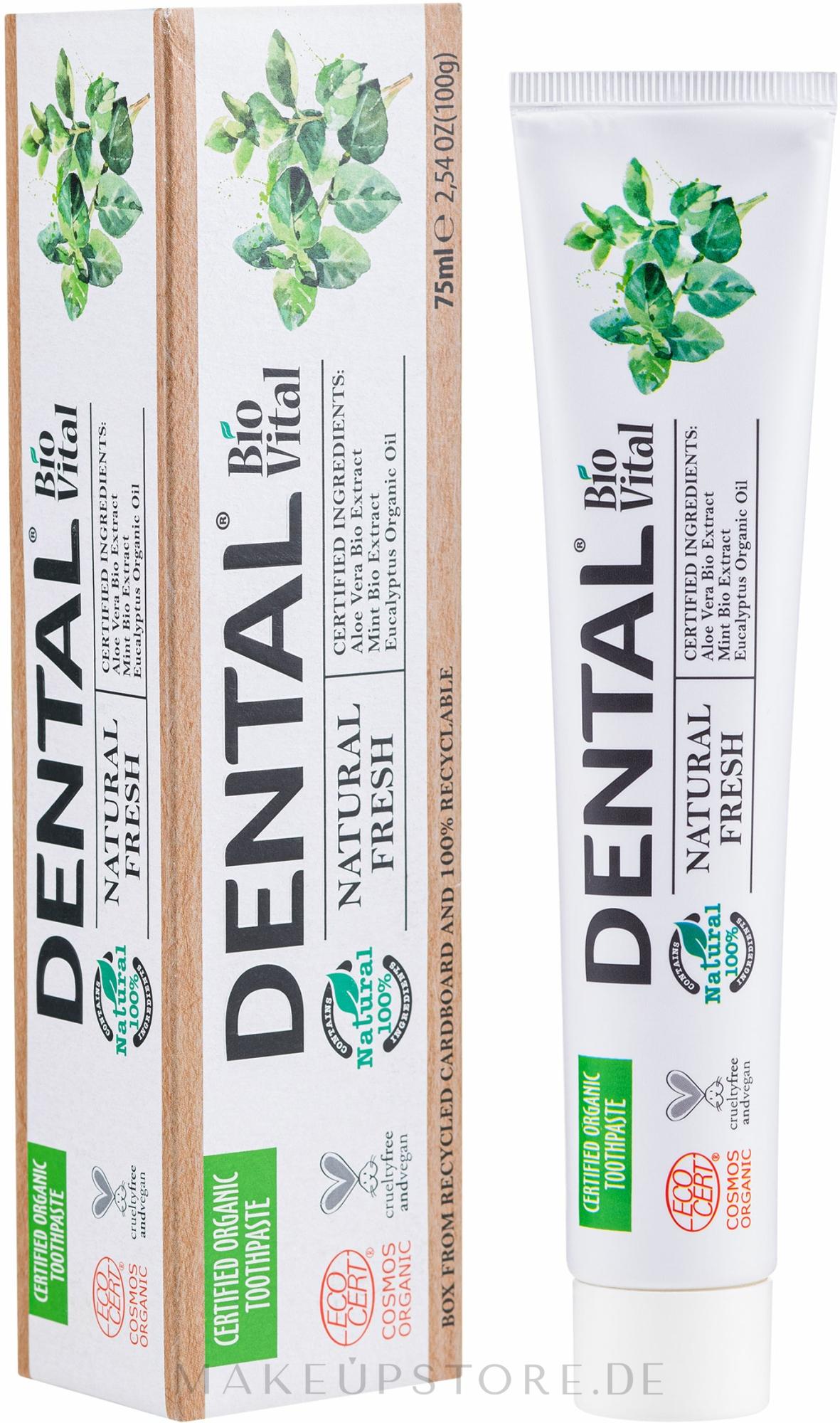 Zahnpasta mit Minzeextrakt - Dental Bio Vital Natural Fresh Toothpaste — Bild 75 ml
