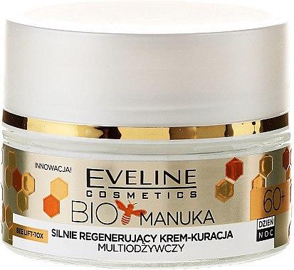 Stark regenerierende und pflegende Gesichtscreme mit Moringa-Öl, Manuka und Kalzium - Eveline Cosmetics Bio Manuka Bee Lift-tox 60+ — Bild N3