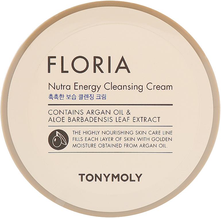 Nährende, energetisierende und feuchtigkeitsspendende Gesichtsreinigungscreme mit Arganöl und Aloeextrakt - Tony Moly Floria Nutra-Energy Cleansing Cream — Bild N1