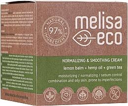 Düfte, Parfümerie und Kosmetik Glättende und normalisierende Gesichtscreme - Melisa Eco