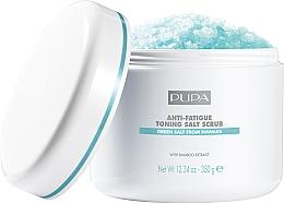 Düfte, Parfümerie und Kosmetik Festigendes Salzpeeling gegen Müdigkeit - Pupa Home Spa Anti-Fatigue Toning Salt Scrub