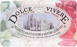 Düfte, Parfümerie und Kosmetik Naturseife Milano - Nesti Dante Natur Soap Lily of the Valley, Willow Tree & Oak Musk Dolce Vivere Collection