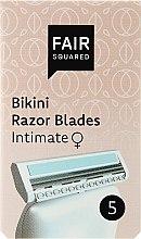 Düfte, Parfümerie und Kosmetik Ersatzklingen für die Intimzone 5 St. - Fair Squared Bikini Razor Blades