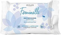 Düfte, Parfümerie und Kosmetik Erfrischungstücher für die Intimhygiene mit schwarzer Johannisbeere, Lotusblumen und Milchsäure - Oriflame Feminelle Refreshing Intimate Wipes