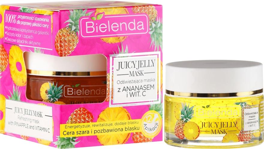 Revitalisierende Gesichtsmaske mit Ananas und Vitamin C - Bielenda Juicy Jelly Mask — Bild N1