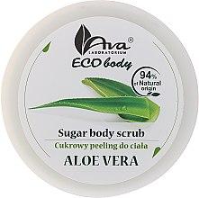 Düfte, Parfümerie und Kosmetik Glättendes und feuchtigkeitsspendendes Zucker-Körperpeeling mit Aloe Vera - Ava Laboratorium Eco Body Natural Sugar Scrub Aloe Vera