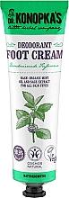 Düfte, Parfümerie und Kosmetik Deo-Fußcreme mit Minzöl und Salbei-Extrakt - Dr. Konopka's Deodorant Foot Cream