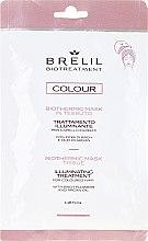 Düfte, Parfümerie und Kosmetik Biothermische Tuchmaske für gefärbtes Haar mit Bachblüten und Arganöl - Brelil Bio Treatment Colour Biothermic Mask Tissue