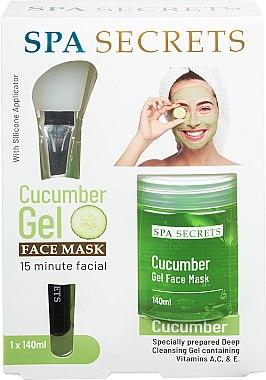 Gesichtspflegeset - Spa Secrets Cucumber Gel Face Mask (Gesichtsmaske 140ml + Pinsel zum Auftragen von Masken 1St.) — Bild N1