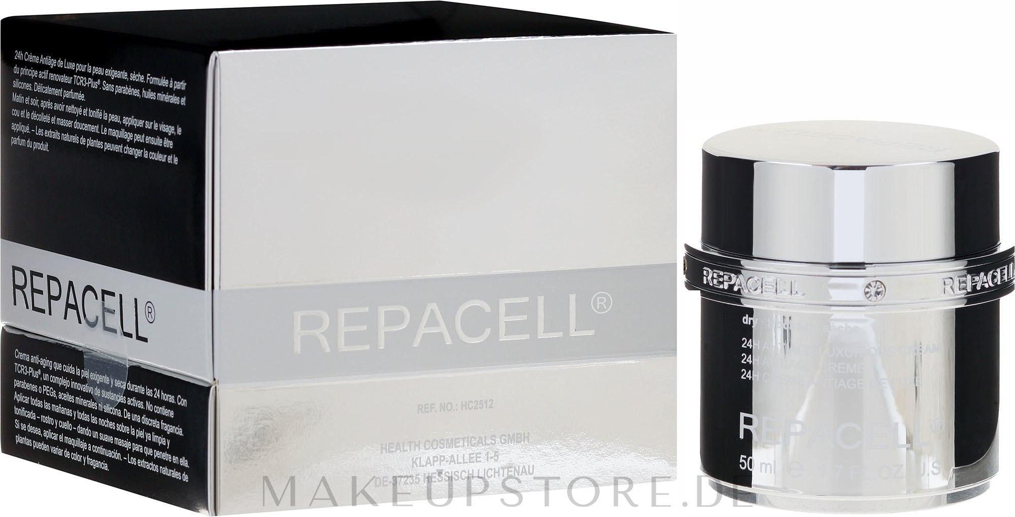 Luxuriöse Anti-Aging Tagescreme für trockene Haut - Klapp Repacell 24H Antiage Luxurious Cream Dry — Bild 50 ml