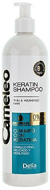 Keratin Shampoo für sanftes und müdes Haar - Delia Cameleo Shampoo — Bild N2
